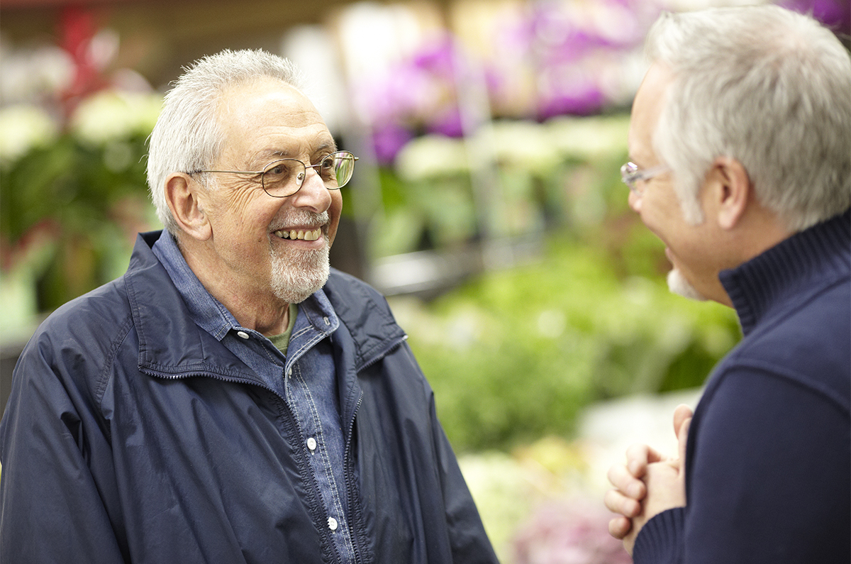 Me and Roy- Loving Life- and loving Flowers... Roy is one of my Flower Heroes!