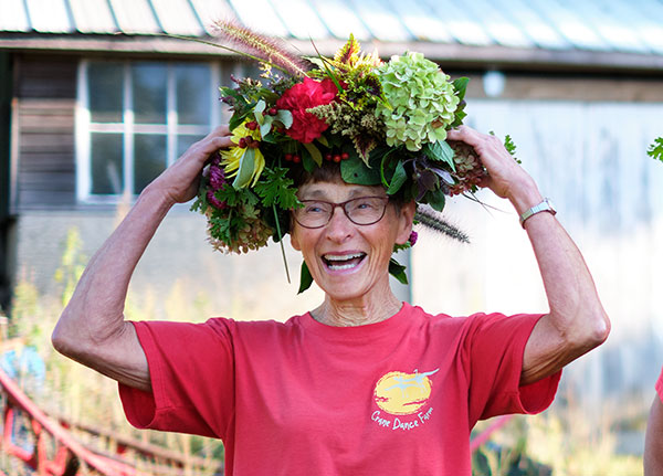 I think Mary likes her Flower Crown- Join us as we visit this Organic Sustainable Farm in West Michigan on Life in Bloom!