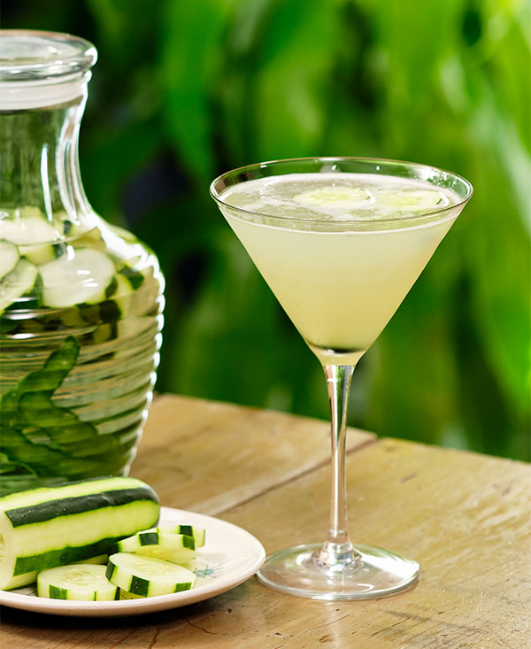 J shares his recipe for a Cucumber Infused Vodka- Gimlet- on Life in Bloom!