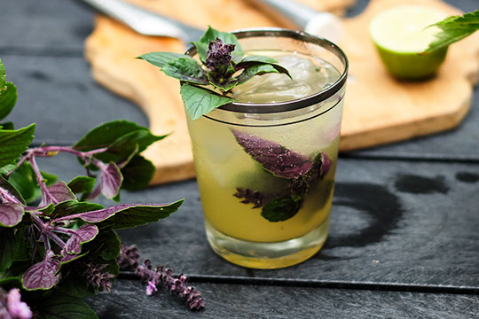 Enjoy this Fresh Garden Inspired cocktail featuring Gin, Lime, Pineapple and Basil... yummy!