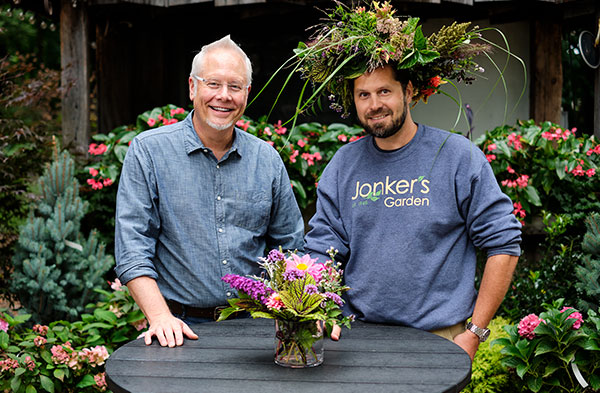 J always brings a flower crown on every visit- and this Flower Crown is created from Jonker's Garden Plants and Flowers!