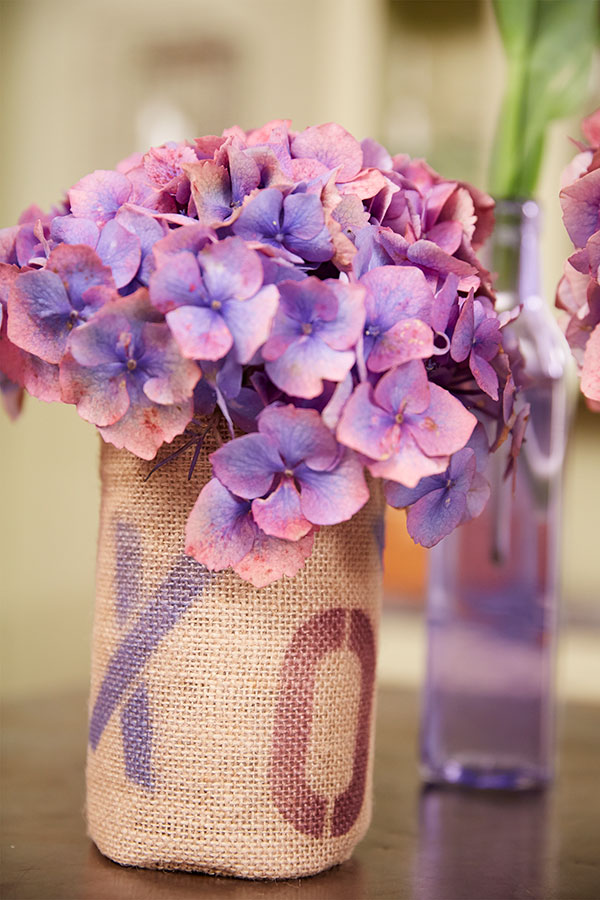 Using Design Master Color Tools- I create these fun stencil vases- that are perfect for Flowers!
