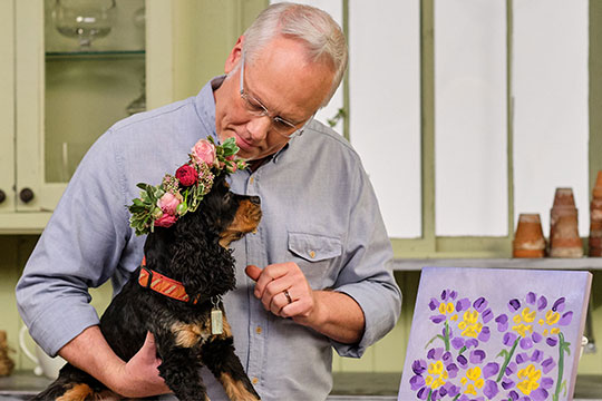Host J Schwanke explores two of his favorite topics: Pets & Flowers! Flora and fauna are inextricably linked; and both provide stress and anxiety relief. J visits with his pet communicator. Pets are the inspiration for an arrangement, a recipe, a craft, and a cocktail.