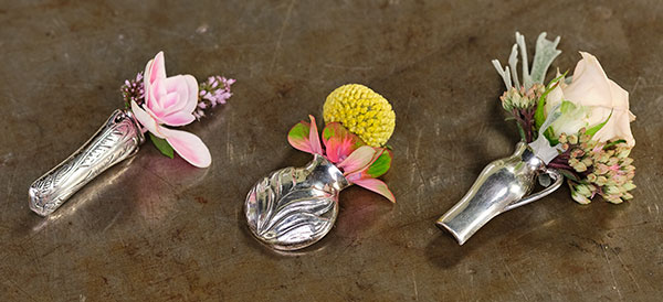 I inherited this wonderful collection of Flower Vessel Pins you can wear- and I show you how to arrange in them on this show!