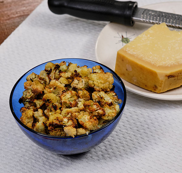 J shares his recipe for Cauliflower Popcorn- that includes Garlic, Rosemary and Fresh Parmesan Cheese!