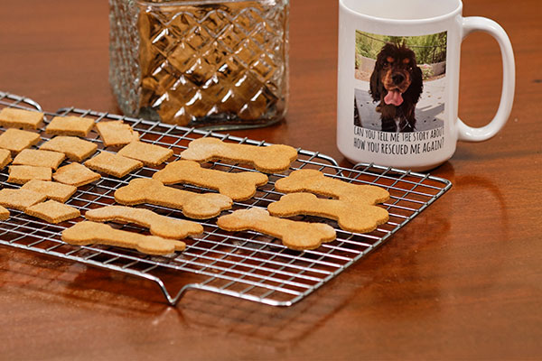 Making healthy treats for your dogs is easy- and you probably have all the ingredients right in your pantry!