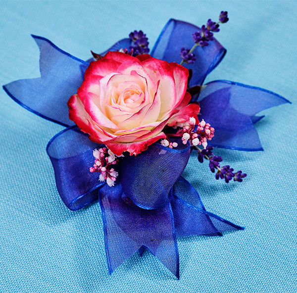Learn to create this Corsage from the garden- with Ribbon and Rubber Cement... Truth!!!