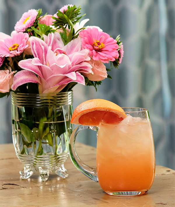 This delicious Cocktail is even better with Rose and Grapefruit Infused Vodka- Yummmy!
