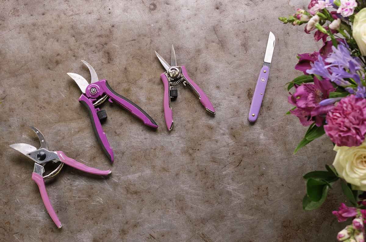 Here's the Purple Collection of ColorPoint Tools from Dramm and a Purple Knife from Swiss Army Tools