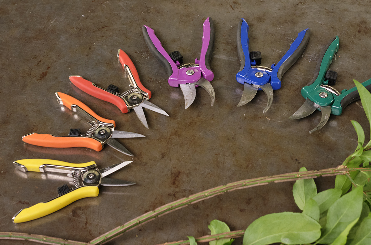 ColorPoint Bypass Pruners and Compact Shears by Dramm