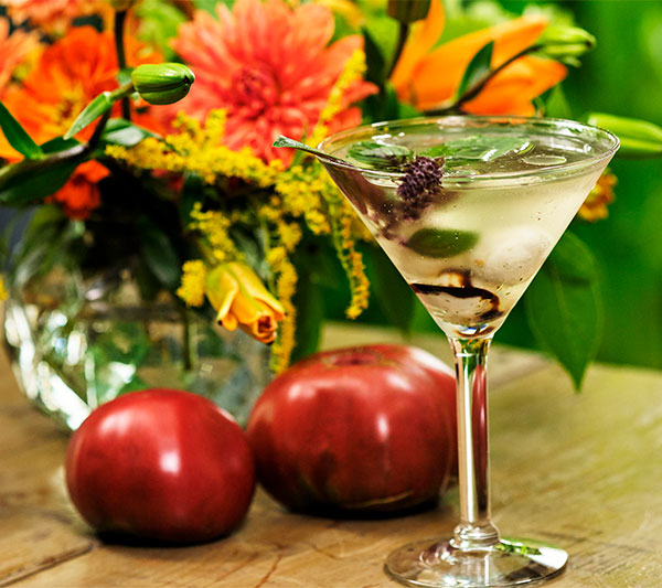 The Capresé Martini is a twist on Capresé Salad- only in cocktail form! Enjoy!