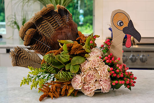 Let's Talk Turkey - Flower Centerpiece