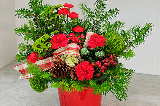 Happy Holiday Arrangement with J's Bouquets