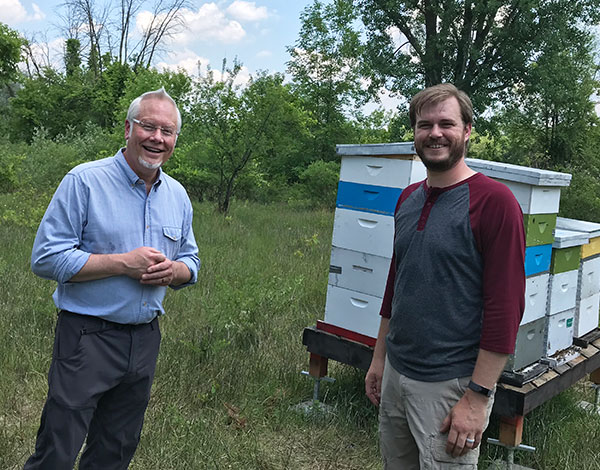 J and Jason - on location at his Local Beehives at Aberdeen Apiary- Grand Rapids MI