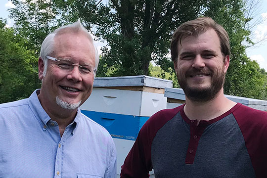 My friend Jason Osbourn- Local Beekeeper and Owner of Aberdeen Apiary- A Local Honey producer here in Grand Rapids MI