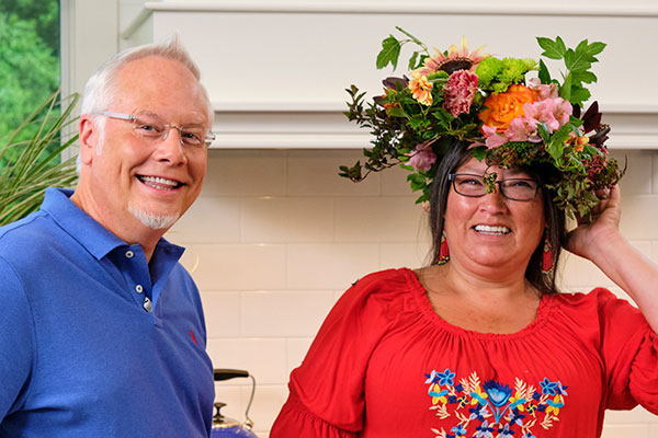I crafted Ms. Margo's Flower Crown with some of the Herbs and Flowers that she uses in her soaps!
