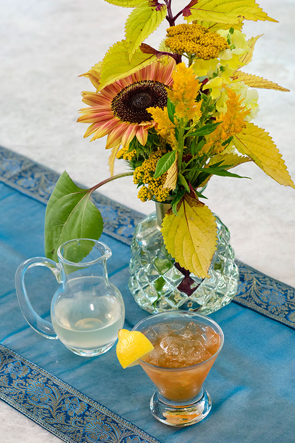 The Queen Bee Cocktail -is an excellent honey based Cocktail for Flower Cocktail Hour!