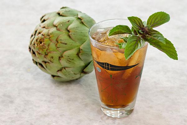 "Here's a Fun ""Flower Cocktail Hour"" Feature- the Artichoke Spritzer- whose secret ingredient is the Artichoke Plant!"