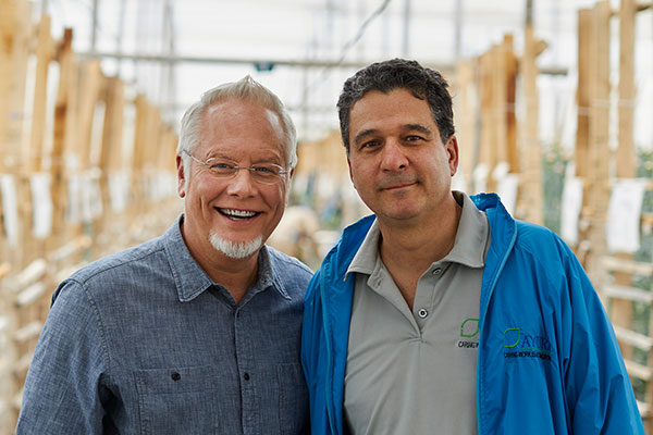 J visits with his Friend José Restrepo at his flower farm in Colombia, South America