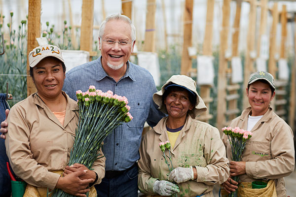 A Visit with my Friends at Ayura- in Colombia- where they grown Flowers- Carnations, Roses and even Dairy Cows!