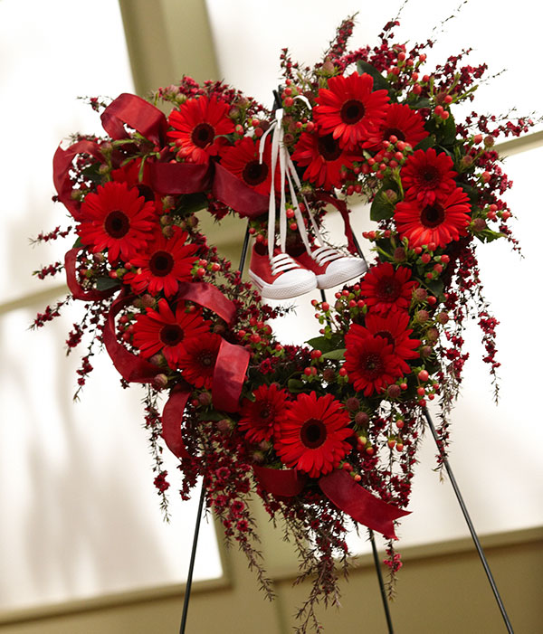 I created this Heart Shaped Wreath- to celebrate the Life of Ralph Swanson- my other 'dad'- that taught me how to tie my shoes!