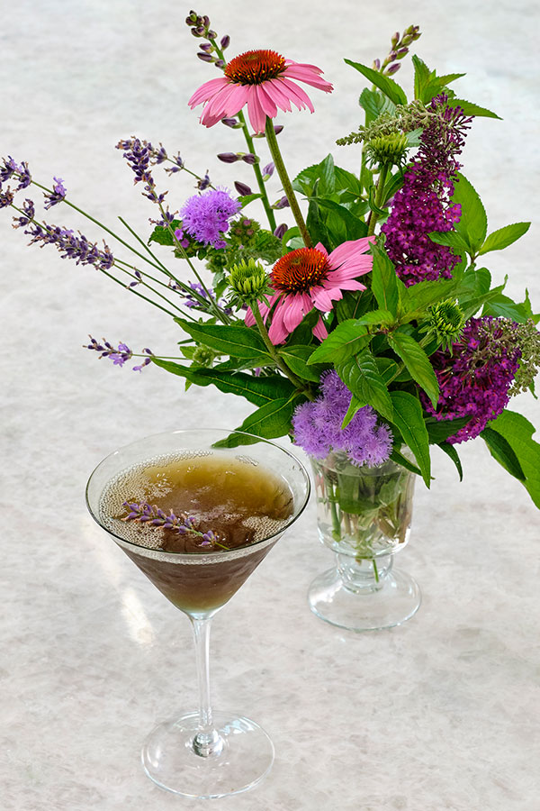 In this show I create a Lavender Martini- that's perfect for a summer dinner party!