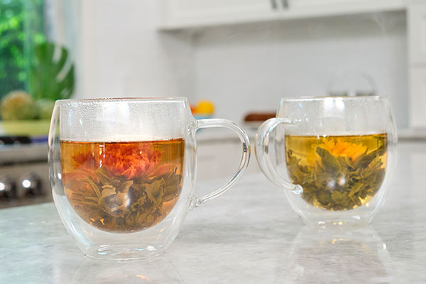 Here's a fun way to bring the BLOOM to your tea- with Blooming tea infusions!