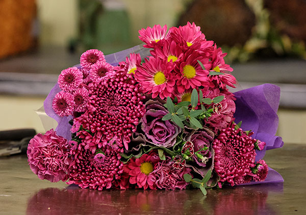 Nightfall - One of J's Bouquet- has a selection of all types of Purple Flowers!