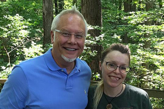 J met with Lori Lomoro - who trains the Animal Ambassadors at Blandford Nature Center!