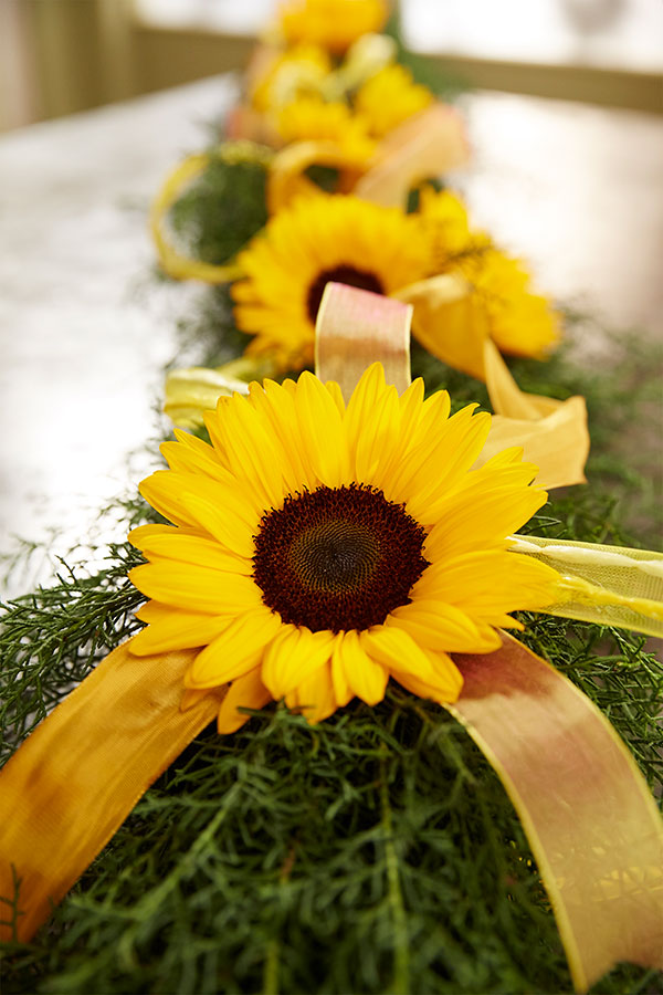 Bring on the Sunshine - at your next party or event- with a sunflower garland- Let me show you how it's done!
