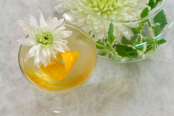 """It's Flower Cocktail Hour- and time to make the """"Chrysanthemum Cocktail"""" it's a classic- and time honored... and perfect for #Flowercocktailhour"""