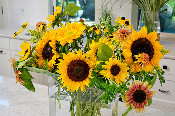 Bring on the Sunshine- with Flowers! Sunflowers are just like sunshine in a Vase! Enjoy!