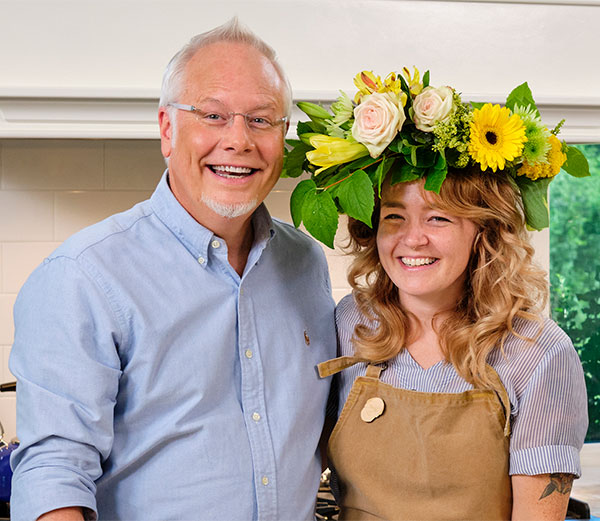 Kara stops by the Life in Bloom Kitchen to show me how to make decorative cookies- she's Amazing