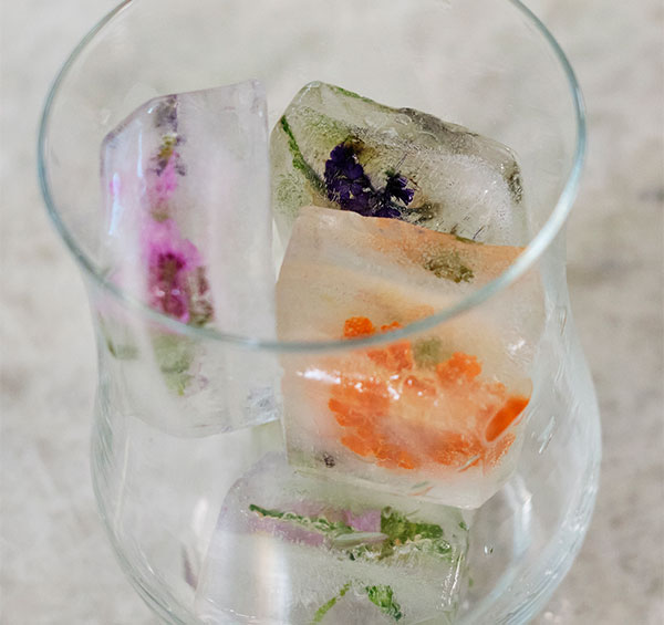 Flower Filled Ice Cubes is a perfect way to spark up our Life in Bloom!