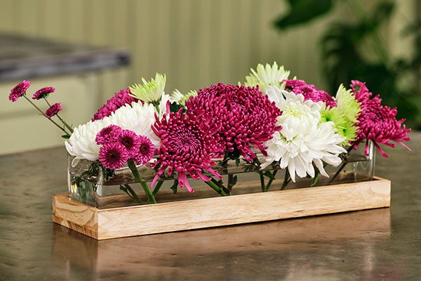 """This arrangement was inspired by the Still Life Painting my Great Grandfather had commissioned of our families """"mums""""- and gave it to his wife Katie -(My Great Grandmother) as a gift!"""