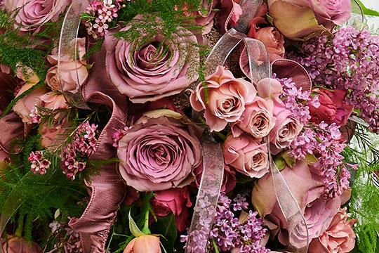 Cascade Bridal Bouquet featuring Wabara® Spray Roses from Alexandra Farms