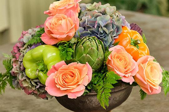Flower Lesson_Flowers and Vegetables Arrangement