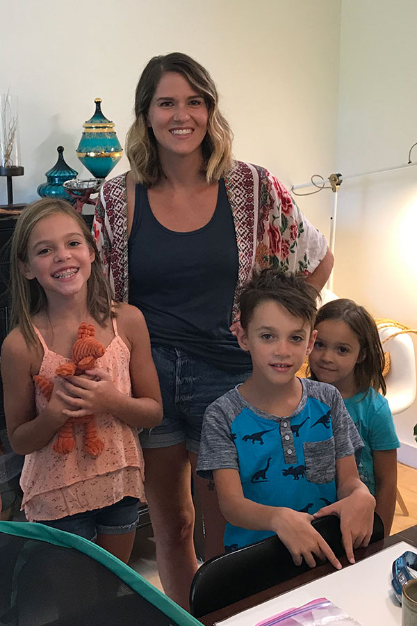 Laura sets up the Monarch Nursery in her home with her three kiddos- that all take part in the Conservation Project!