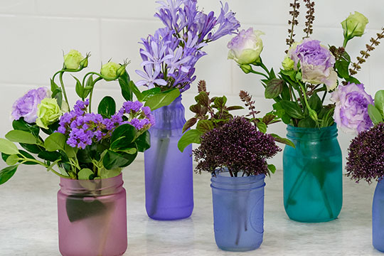 Painted Vases - Cool Colors!