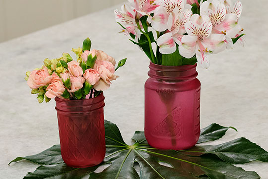 Warm Colors - Painted Vases!